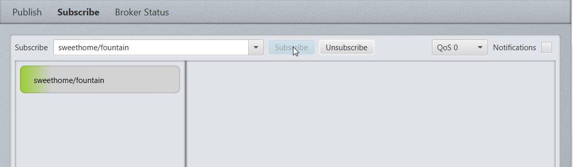 MQTT.fx - v0.0.4 - subscribe